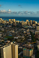 Kalakaua Avenue (lower right) & Waikiki Skyline