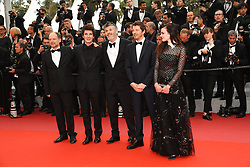 Actor Denis Podalydes, actor Vincent Lacoste, director Christophe Honore, actor Pierre Deladonchamps and actress Adele Wismes attend the screening of Sorry Angel (Plaire, Aimer Et Courir Vite) during the 71st annual Cannes Film Festival at Palais des Festivals on May 10, 2018 in Cannes, France. Photo by Shootpix/ABACAPRESS.COM