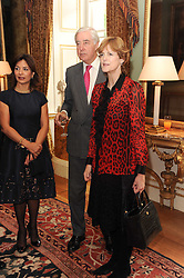 A party to promote the exclusive Puntacana Resort & Club - the Caribbean's Premier Golf & Beach Resort Destination, was held at Spencer House, London on 13th May 2010.<br /> <br /> Picture shows:- Left to right, RUPERT HAMBRO and VIRGINIA FRASER