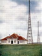 Marconi radio station at Berne, Long wave. Illustration c1925
