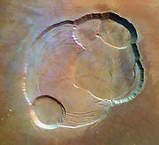 At the Summit of Olympus Mons, Volcanic crater on the surface of Mars