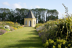 Shell house at the end of the herbaceous borders at Ballymaloe
