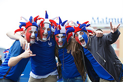 PARIS, FRANCE - Sunday, July 3, 2016: France supporters before the UEFA Euro 2016 Championship Semi-Final match against Iceland at the Stade de France. (Pic by Paul Greenwood/Propaganda)