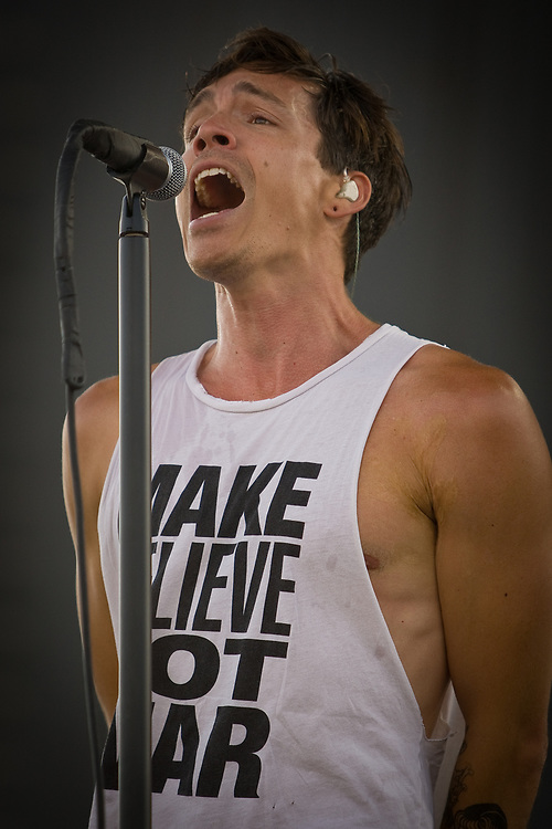 BRANDON BOYD of Incubus performs at the Mile High Music Festival at Dick's Sporting Goods Park.