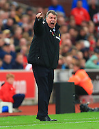 West Ham manager, Sam Allardyce barks orders - Stoke City vs. West Ham United - Barclay's Premier League - Britannia Stadium - Stoke - 01/11/2014 Pic Philip Oldham/Sportimage