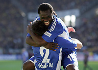 Fotball<br /> Tyskland<br /> 13.09.2008<br /> Foto: Witters/Digitalsport<br /> NORWAY ONLY<br /> <br /> Jubel 0:3 v.l. Heiko Westermann, Gerald Asamoah Schalke <br /> Fussball Bundesliga Borussia Dortmund - FC Schalke 04