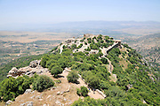 The Nimrod (Namrud) Fortress or Nimrod Castle is a medieval Muslim castle situated on the southern slopes of Mount Hermon, on a ridge rising about 800 m above sea level. It overlooks the Golan Heights and was built with the purpose of guarding a major access route to Damascus against armies coming from the west.