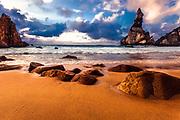 A big sharp rocks near to Cabo da Roca cape