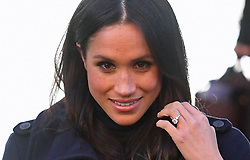 Meghan Markle leaving the Nottingham Contemporary in Nottingham, after attending a Terrence Higgins Trust World AIDS Day charity fair on their first official engagement together.