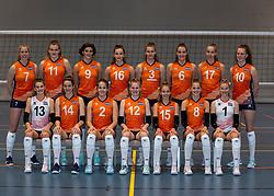 24-12-2019 NED: Photoshoot selection of Orange Youth Girls, Arnhem<br /> Orange Youth Girls 2019 - 2020 / Sanne Konijnenberg #2, Nog de Vos #3, Marije ten Brinke #6, Sanne Wagener #7, Silke Bos #8, Dagmar Mourits #9, Joanne Brilhuis #10, Emily Silderhuis #11, Tess Leemreize #12, Pippa Molenaar #13, Nicole van de Vosse #14, Marit Zander #15, Marlijn Stelwagen #16 and Sabine de Groot #17