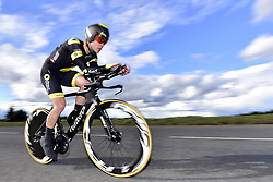 March 7, 2018 - Saint Etienne, France - SAINT-ETIENNE, FRANCE - MARCH 7 : BOUDAT Thomas  (FRA)  of Direct Energie in action during stage 4 of the 2018 Paris - Nice cycling race, an individual time trial over 18,4 km from La Fouillouse to Saint-Etienne on March 07, 2018 in Saint-Etienne, France, 7/03/2018 (Credit Image: © Panoramic via ZUMA Press)