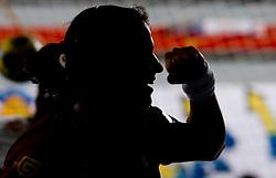 Andrea Lekic of Krim during 2nd Round of Group 1 at Women Champions League handball match between RK Krim Mercator, Ljubljana and HC Leipzig, Germany on February 13, 2010 in Arena Kodeljevo, Ljubljana, Slovenia. Krim defeated  Leipzig 32-26. (Photo by Vid Ponikvar / Sportida)