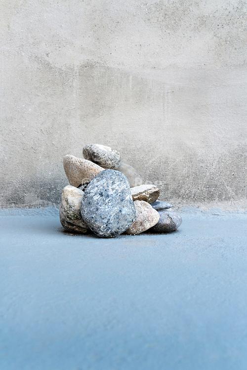 stacked stones still life