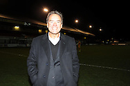 Sky sports presenter and Hartlepool Utd supporter Jeff Stelling poses for a photo.   Skybet football league two match, Newport county v Hartlepool Utd at Rodney Parade in Newport , South Wales on Friday 15th November 2013. pic by Andrew Orchard, Andrew Orchard sports photography,