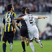 Besiktas's Simao SABROSA celebrate his goal during their Turkish Superleague Derby match Besiktas between Fenerbahce at the Inonu Stadium at Dolmabahce in Istanbul Turkey on Thursday, 207 October 2011. Photo by TURKPIX