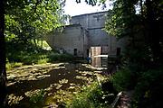 Leśniewo Górne, 2009-08-09. Śluza wodna w Leśniewie Górnym