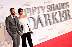 Jamie Dornan and wife Amelia Warner arriving for the Fifty Shader Darker European Premiere held at Odeon Leicester Square, London.