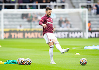 Football - 2021 / 2022 Premier League - Newcastle United vs West Ham United - St James Park - Sunday 15th August 2021<br /> <br /> Declan Rice of West Ham during the warm up<br /> <br /> Credit: COLORSPORT/Bruce White