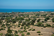Elevated view of the antiquity park at Ashkelon, Israel