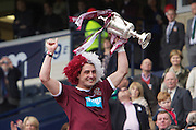 The William Hill Scottish FA Cup Final 2012 Hibernian Football Club v Heart Of Midlothian Football Club..19-05-12...Hearts Rudi Skacel with the Scottish Cup        during the William Hill Scottish FA Cup Final 2012 between (SPL) Scottish Premier League clubs Hibernian FC and Heart Of Midlothian FC. It's the first all Edinburgh Final since 1986 which Hearts won 3-1. Hearts bid to win the trophy since their last victory in 2006, and Hibs aim to win the Scottish Cup for the first time since 1902....At The Scottish National Stadium, Hampden Park, Glasgow...Picture Mark Davison/ ProLens PhotoAgency/ PLPA.Saturday 19th May 2012.