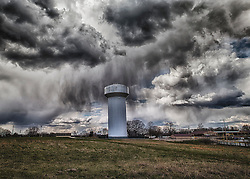 Crazy Clouds and Dramatic Skies Over The New Melle Water Tower