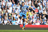 Brighton striker, Tomer Hemed (10) during the Sky Bet Championship match between Brighton and Hove Albion and Burnley at the American Express Community Stadium, Brighton and Hove, England on 2 April 2016.