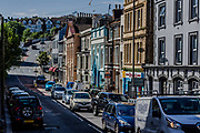 June 3, 2015 - Hastings, England, UK - A peripheral view of the interior of the city shows the antiquity of the architecture construction of residential houses in Hastings, who in the following year marks the 600th anniversary of the establishment. (Credit Image: © Vedat Xhymshiti/ZUMA Wire)