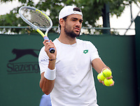 Lawn Tennis - 2021 All England Championships - Week Two - Monday - Wimbledon<br /> Mens Singles<br /> Matteo Berrettini v Ilya Ivashka<br /> <br /> Matteo Berrettini of Italy<br /> <br /> <br /> Credit : COLORSPORT/Andrew Cowie
