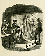 The Discovery of Father Henry Garnet and Father Oldcorne From the book ' Guy Fawkes; or, The gunpowder treason. An historical romance ' by William Harrison Ainsworth, with illustrations on steel by  George Cruikshank. Published in London, by George Routledge and sons, limited in 1841. Guy Fawkes (13 April 1570 – 31 January 1606), also known as Guido Fawkes while fighting for the Spanish, was a member of a group of provincial English Catholics who was involved in the failed Gunpowder Plot of 1605. He was born and educated in York; his father died when Fawkes was eight years old, after which his mother married a recusant Catholic.