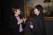 Tessa Jowell and Liz Forgan. Turner Whistler Monet, exhibtion opening dinner, Tate Britain. 7 February 2005, ONE TIME USE ONLY - DO NOT ARCHIVE  © Copyright Photograph by Dafydd Jones 66 Stockwell Park Rd. London SW9 0DA Tel 020 7733 0108 www.dafjones.com