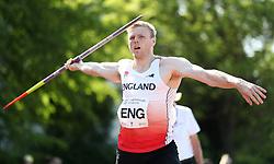 Joe Dunderdale in the javelin during the Loughborough International Athletics Meeting at the Paula Radcliffe Stadium, Loughborough.