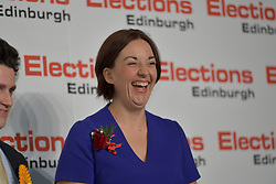 SCOTTISH PARLIAMENTARY ELECTION 2016 – Kezia Dugdale Scottish Labour Party at the Royal Highland Centre, Edinburgh for the counting of votes and declaration of results.<br />