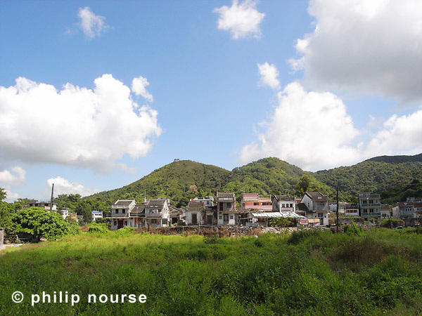 Wu Kau Tang Village, surrounded by Plover Cove Country Park, in the northeast New Territories