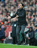 Football - 2019 / 2020 Premier League - Arsenal vs. Chelsea<br /> <br /> New Arsenal manager, Mikel Arteta, at The Emirates.<br /> <br /> COLORSPORT/ANDREW COWIE