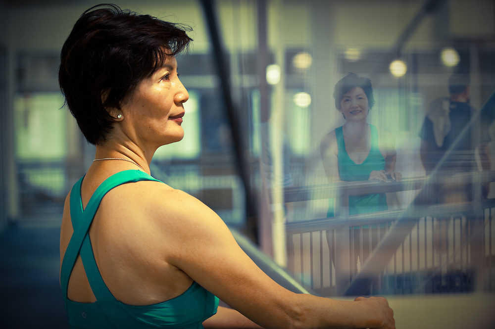 Suzy Park is an active member of the Carl Sanders YMCA in Atlanta. Exercising regularly has helped her fight depression and become a happier person.