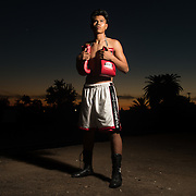 11/3/16 6:24:41 PM --- Boxing --- George Rico poses for a portrait outside the La Habra Boxing Club in La Habra, CA.<br /> <br /> Photo by Brian Rothmuller, Sports Shooter Academy6:24:41 PM --- Boxing --- George Rico poses for a portrait outside the La Habra Boxing Club in La Habra, CA.<br /> <br /> Photo by Brian Rothmuller, Sports Shooter Academy