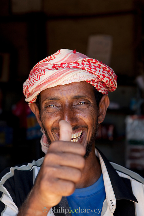 Local shopkeeper in Bidhula village, Socotra, Yemen