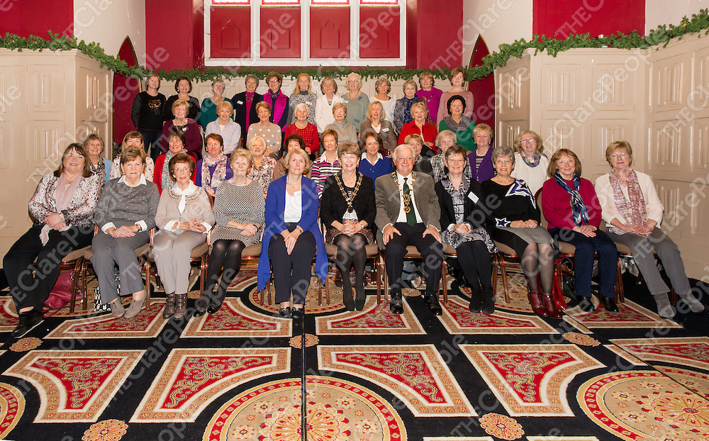 All the members of the Inchiquin Ladies Probus at the AGM held in Temple Gate Hotel, Ennis
