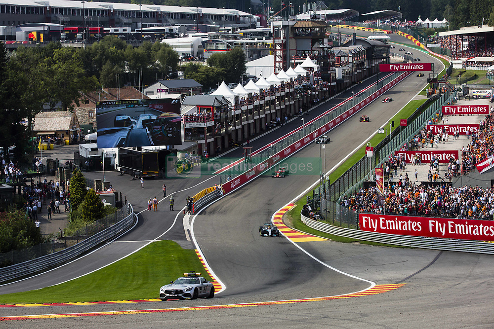 August 27, 2017 - Spa, Belgium - Safety Car ahead of the leading group during the Formula One Belgian Grand Prix at Circuit de Spa-Francorchamps on August 27, 2017 in Spa, Belgium. (Credit Image: © Xavier Bonilla/NurPhoto via ZUMA Press)