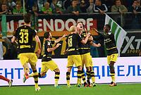 1:5 Jubel v.l. Gonzalo Castro, Sebastian Rode, Torschuetze Lukasz Piszczek, Ousmane Dembele (Dortmund)<br /> Wolfsburg, 20.09.2016, Fussball Bundesliga, VfL Wolfsburg - Borussia Dortmund<br /> Norway only