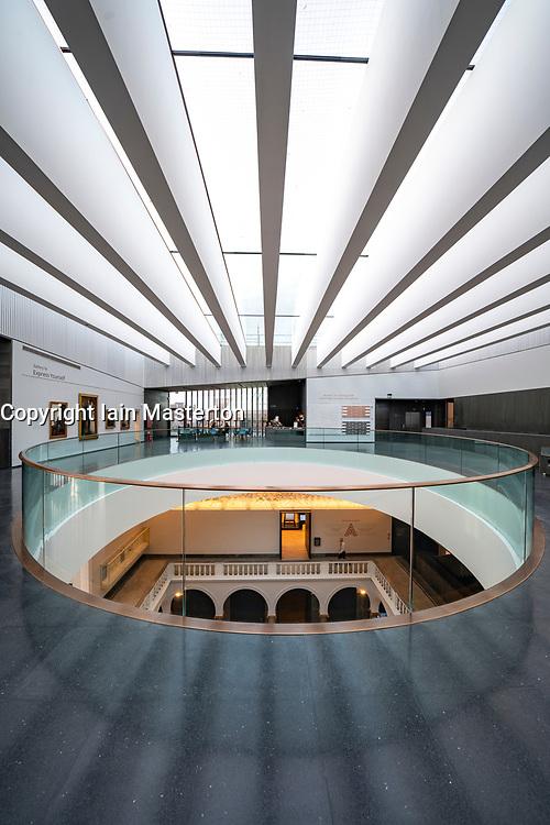 New reopened Aberdeen Art Gallery after refurbishment to add new floor in Aberdeen, Scotland, UK