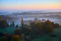 France, Indre (36), le Berry, parc naturel régional de la Brenne, Rosnay, chateau du Bouchet, vue aerienne // France, Indre (36), le Berry, Brenne, natural park, aerial view