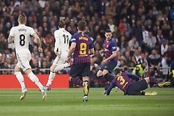 March 2, 2019 - Madrid, Madrid, Spain - Gareth Bale (midfielder; Real Madrid), Luis Suarez (forward; Barcelona) in action during La Liga match between Real Madrid and FC Barcelona at Santiago Bernabeu Stadium on March 3, 2019 in Madrid, Spain (Credit Image: © Jack Abuin/ZUMA Wire)
