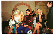 SIENNA MILLER; HANNAH SANDLING; EDWARD TAYLOR; EMILY COMPTON, ; , Indian Palace Ball, St. James Sq. 8 July 2002.<br /> <br /> SUPPLIED FOR ONE-TIME USE ONLY> DO NOT ARCHIVE. © Copyright Photograph by Dafydd Jones 248 Clapham Rd.  London SW90PZ Tel 020 7820 0771 www.dafjones.com