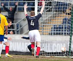 Falkirk's Darren Dods cele scoring their first goal..Falkirk 4 v 0 Cowdenbeath, 6/4/2013..©Michael Schofield..