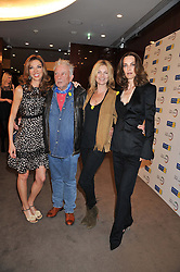 Left to right, HEATHER KERZNER, DAVID BAILEY, KATE MOSS and CATHERINE BAILEY at the launch of Samsung's NX Smart Camera at charity auction with David Bailey in aid of Marie Curie Cancer Care at the Bulgari Hotel, 171 Knightsbridge, London on 14th May 2013.