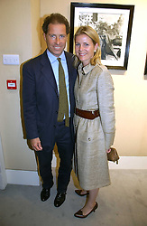 VISCOUNT & VISCOUNTESS LINLEY at an exhibition of photographs by Lord Snowdon held at the Chris Beetles Gallery, Ryder Street, London on 18th September 2006.<br />