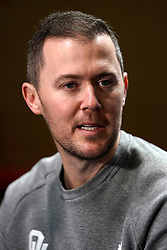 Head coach Lincoln Riley of the Oklahoma Sooners speaks with the media at Media Day on Thursday, Dec. 26, in Atlanta. LSU will face Oklahoma in the 2019 College Football Playoff Semifinal at the Chick-fil-A Peach Bowl. (Paul Abell via Abell Images for the Chick-fil-A Peach Bowl)