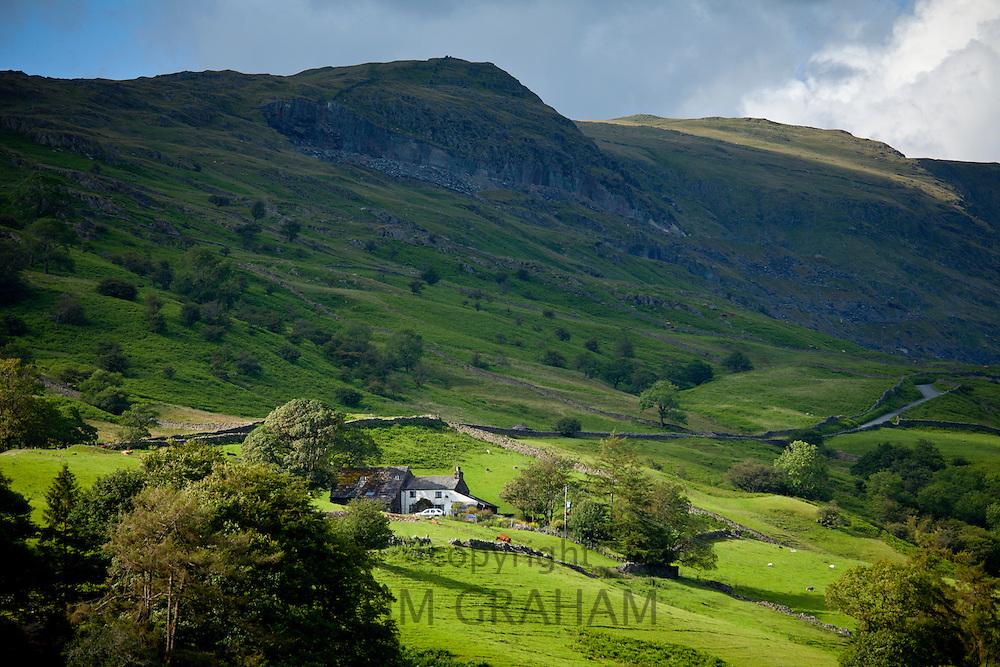 Hill farm near Ambleside in the Lake District National Park, Cumbria, UK