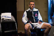 LAS VEGAS, NV - JULY 8:  Ross Pearson waits in the locker room before The Ultimate Fighter Finale at MGM Grand Garden Arena on July 8, 2016 in Las Vegas, Nevada. (Photo by Cooper Neill/Zuffa LLC/Zuffa LLC via Getty Images) *** Local Caption *** Ross Pearson